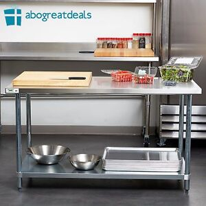 Regency Work Prep Table 30 X 60 Stainless Steel Commercial Kitchen Restaurant