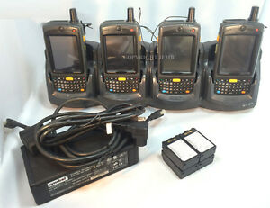 Lot Of 4 Symbol Motorola Mc7095 pkcdjqha8wr Wireless Barcode Scanner Wifi Mc70