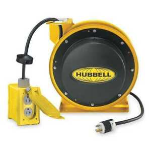Retractable Cord Reel With 45 Ft Cord 2 outlet 12 3