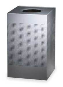 20 Gal Silver Steel Square Trash Can Rubbermaid Fgsc18eplsm