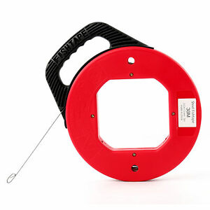 100ft Fish Tape Wire Cable Puller Electricians Reel Tape us Stock