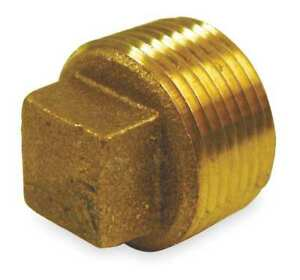 3 Mnpt Red Brass Cored Plug 1vft8