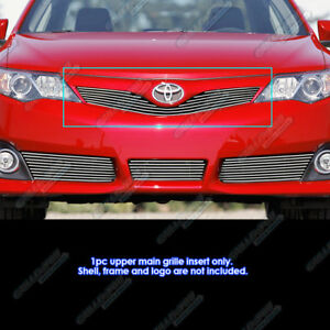 Fits 2012 2014 Toyota Camry Se Main Upper Billet Grille Grill Insert