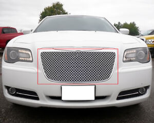 For 2011 2014 Chrysler 300 300c Stainless Steel Double Wire X Mesh Grille