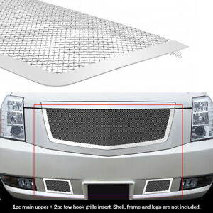 For 2007 2014 Cadillac Escalade Stainless Steel Mesh Grille Grill Insert Combo