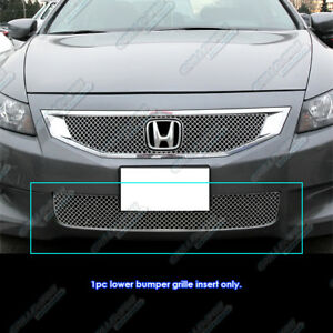 For 2008 2010 Honda Accord Coupe Stainless X Mesh Bumper Grille Insert