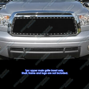 Fits 2010 2013 Toyota Tundra Stainless Black Mesh Grille Grill Insert