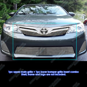 Fits 2012 2014 Toyota Camry Billet Grille Grill Insert Combo