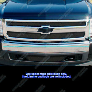 Fits 2007 2013 Chevy Silverado 1500 Black Mesh Grille Grill Insert