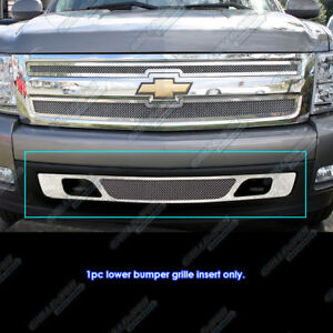 For 2007 2013 Chevy Silverado 1500 Bumper Stainless Steel Mesh Grille Grill