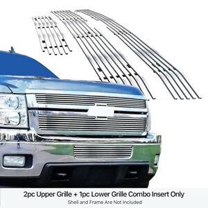 For 2011 2014 Chevy Silverado 2500hd 3500hd Billet Grille Grill Combo Insert