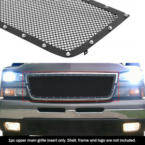 Fits 2006 Chevy Silverado 1500 05 06 2500 3500 Rivet Black Mesh Grille Insert