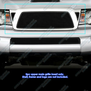 For 2005 2010 Toyota Tacoma Black Stainless Steel Mesh Grille Grill Insert