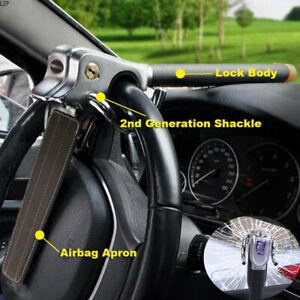 Universal Auto Car Top Mount Steering Wheel Anti Theft Security Lock With 2 Keys