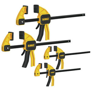 Dewalt Dwht83196 300 lb Nylon Medium And Large Trigger Clamps 4 pack New