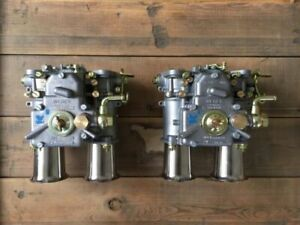 2x 45 Dcoe 152 Weber Twin Carburettor With Inlet Funnel Alfa Romeo Vw Vauxhall
