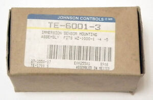 Lot Of 6 Johnson Controls Te 6001 3 Immersion Sensor Well Mounting Assy Nos