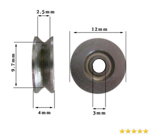 Letool10pcs 3124mm High Carbon Steel 1 5mm Deep V Groove Guide Pulley Rail Ball