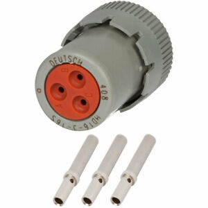 Hd16 3 16s Deutsch 3 Way Plug Connector Kit W 20 16 Awg Solid Contacts
