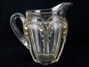 Antique Glass Water Pitcher Fostoria Glass Priscilla Pattern Circa 1901 Aa08