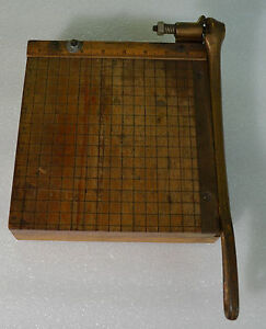 Antique Ingento No 2 Paper Cutter Ideal School Supply Company 8