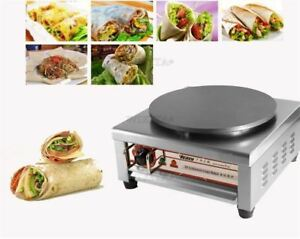 Vp 81 Stainless Steel 220v Non stick Pancake Machine Electric Crepe Maker New