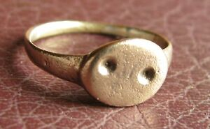 Ancient Artifact Medieval Bronze Finger Ring Sz 8 Us 18mm 14764 Dr
