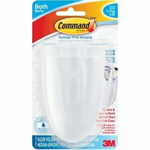 Command Toothbrush Razor Holder Frosted Bath16 W