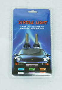 Headlight Strobe Lights With White Silicon Sleeve