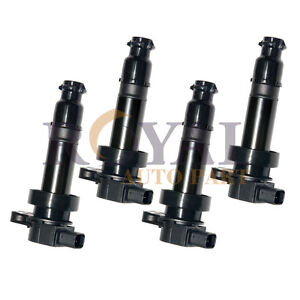 4 Ignition Coils For 12 18 Hyundai Accent Veloster Rio Soul 273012b100 Dq50121b