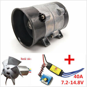 Car Electric Supercharger Turbos Intake Fan Boost 12v 16 5a Esc40a Airplane