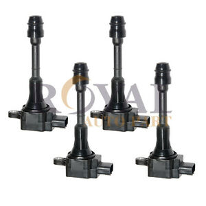 Set Of 4 Ignition Coil On Plug 02 03 04 05 06 For Nissan Altima 2 5l L4 Uf350