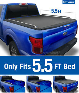 Tyger T2 Roll Up Low Profile Tonneau Cover Fits 2009 2019 Ford F 150 5 5 Bed