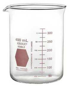 Kimble Kimax 14000r 1000 Griffin Beaker 1000ml glass clear pk6