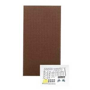 Pegboard Kit brown 48 In H 24 In W Tempered Wood Pegboard Tpb 36brh kit