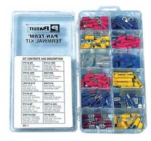 Panduit Kp 1075y Wire Terminal Kit crimp Trminls 160 Pcs G0159050