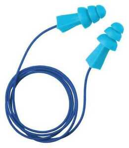 Tasco 9022 Corded Ear Plugs 27db Rated Reusable Flanged Shape Pk 100
