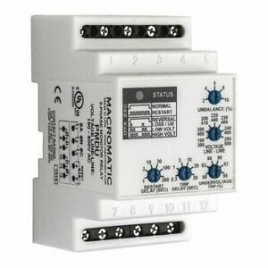 3 Phase Monitor Relay dpdt 500vac 0 Pin