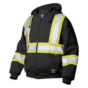 Medium Hi vis Sweatshirt Black Work King S49411 m blk