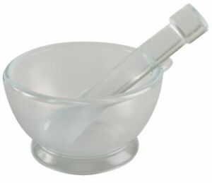 Mortar And Pestle Set glass 90mm Dia pk8 Lab Safety Supply 5ptg7