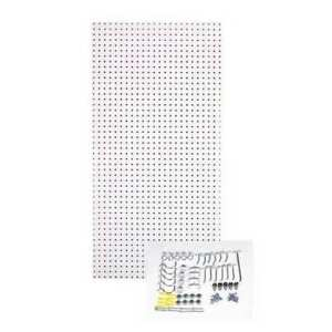 Pegboard Kit white 48 In H 24 In W Tempered Wood Pegboard Tpb 36wh kit