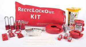 Zing 2724 Lockout tagout Kit filled electrical