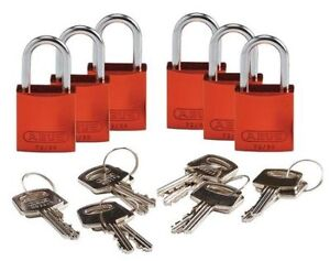 Lockout Padlock ka orange 1 7 16 h pk6 Brady 133292