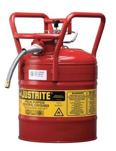 Type Ii Dot Safety Can red 17 1 2 In H Justrite 7350110