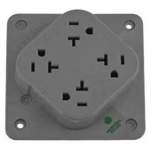 Hubbell Hbl420hgy Receptacle 20a quad Outlet flush Mount G4844239