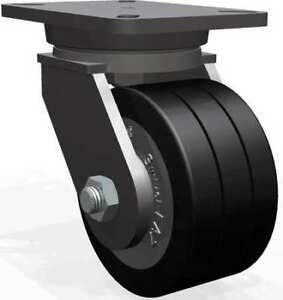 Plate Caster swivel poly 6 In 3500 Lb