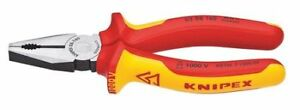 6 1 4 Combination Pliers Insulated Knipex 03 08 160 Sba