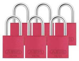 Lockout Padlock ka red 2 17 32 h pk6 Abus 72 30 Ka X 6