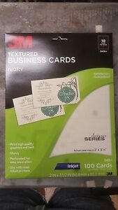 300 3m Textured Business Card Inkjet Ivory 2 X 3 1 2 D419 1 3 Boxes Of 100