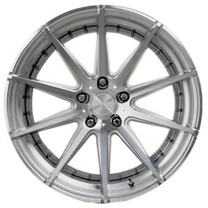 20x10 Verde Insignia 5x120 20 Silver Machined Rims New Set 4